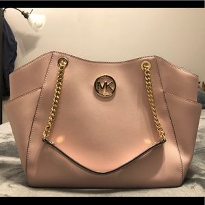 Michael Kors baby pink purse